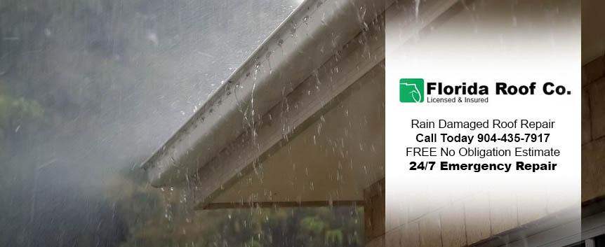 Rain Damaged Roof Repair Florida