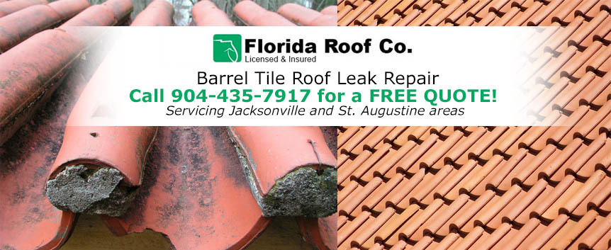 Barrel Tile Roof Leak Repair