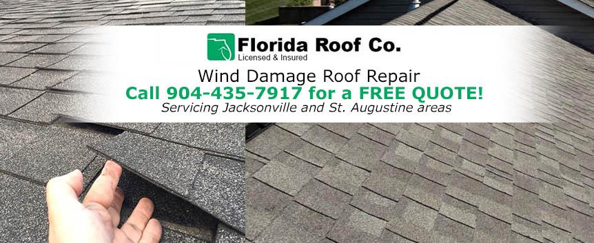 Wind Damage Roof Repair