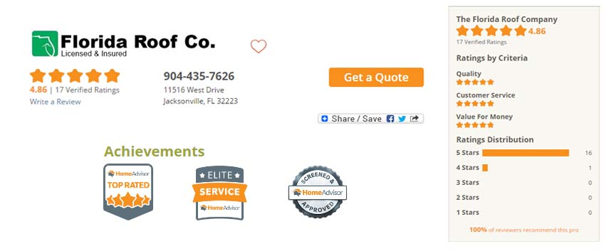 Florida Roof Company HomeAdvisor